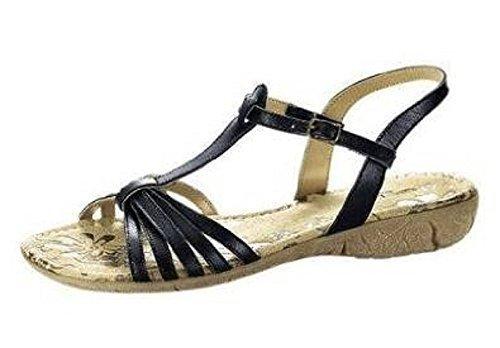 Elho Tacco Scarpe nero Sandale Donna Nero Col ZCqfAZ