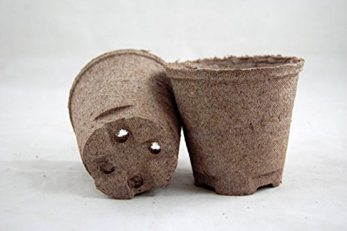 - 3in Round Fiber Biodegradable Seed Starting Peat Pots Pack of 28 by Great Lakes Essentials Co.