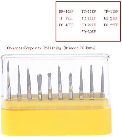 Lab Polishing Diamond Round Burs Multiple Size