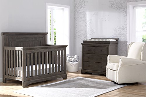 Simmons Kids SlumberTime Paloma 4 In 1 Convertible Crib, Rustic Grey
