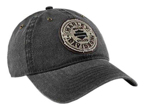 Harley-Davidson Men's Embroidered Blank B&S Rockers Baseball Cap, Black ()