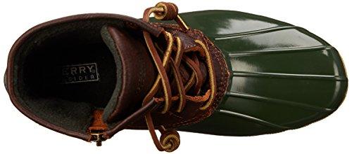 Sperry Top-Sider Womens Saltwater Rope Emboss Neoprene Rain Boot Tan/ Green