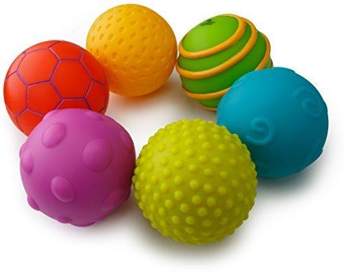 Tactile Playing Mat (Playkidz Super Durable Infantino Multi Ball Set texture Sensorry balls for kids)
