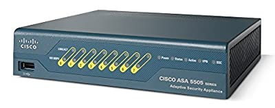 Cisco ASA 5505 Security Plus Bundle ASA5505-SEC-BUN-K9 (8-Port Fast Ethernet Switch, 25 IPsec VPN Peers, Firewall, License)