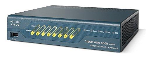 Cisco ASA 5505 Security Plus Bundle ASA5505-SEC-BUN-K9 (8-Port Fast Ethernet Switch, 25 IPsec VPN Peers, Firewall, License) ()