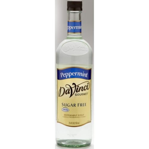 DaVinci Gourmet Sugar Free Peppermint Syrup, 750 Milliliter -- 12 per case. by Kerry Food and Beverage