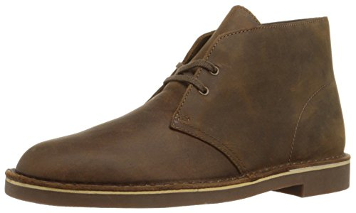 [Clarks Men's Bushacre 2 Desert Boot,Beeswax Leather,12 M US] (Mens Clarks Casual Boots)