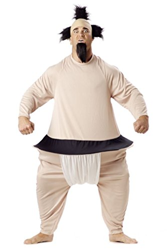 [Fancy SUMO JAPANESE WRESTLER ADULT COSTUME] (Baby Sumo Wrestler Costume)