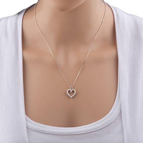 Igi certified 10k white gold heart diamond pendant necklace 12 igi certified 10k white gold heart diamond pendant necklace 12 carat aloadofball Choice Image