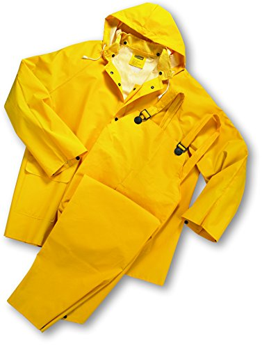 West Chester 4035 S 35 mL PVC Over Polyester Rain Suit, Small, Yellow ()