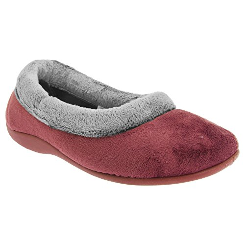 Amazon.com | Sleepers Womens/Ladies Julia Memory Foam Collar Slippers | Slippers