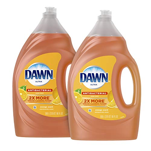 Dawn Antibacterial Dishwashing Liquid Dish Soap, Orange Scent, 56 Fl Oz, Pack Of 2(Packaging May Vary)