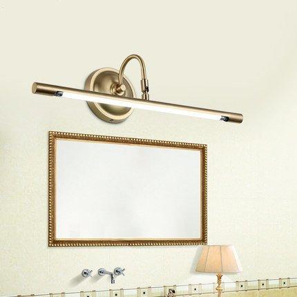 TYDXSD Espejo de estilo europeo luces LED lámpara de latón baño lavado a mano lámparas de