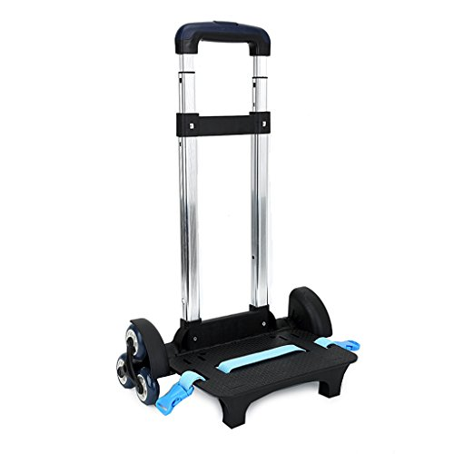 Purchase Backpack Trolley – Wheeled Trolley Hand Aluminium Alloy Non-folding Trolley Cart for Backpack (Blue, 6 Wheels)