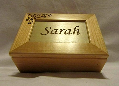 Personalized Wooden Keepsake Box - Custom Engraved Name (Box Valuable Maple)