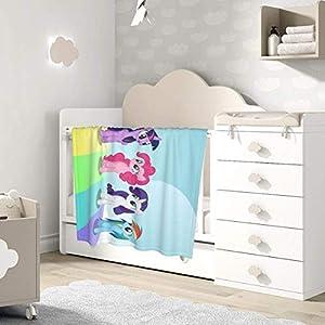 AOOEDM Baby Blanket Anime Rainbow Pony Toddler Kids Blanket Super Soft Baby Blankets Cozy Crib Lightweight Comforter…