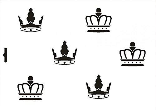 UMR-Design W-310 Crowns Textil- / wallstencil Size A4
