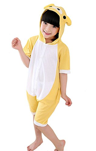 Tonwhar Childrens Summer Short Sleeve Animal Pajamas Onesies Cosplay Homewear (110( Height:47.2