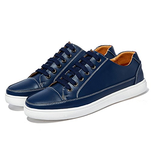 Minishion Young Mens Sneakers Fashion Street Famose Blu Scuro