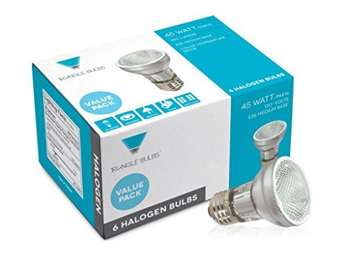 ((Pack of 6) 45-Watt PAR16 Medium Base Halogen Light Bulb Flood - Long Life)