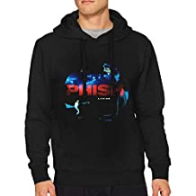 Mans Phish A Live One Red Includes Download Fashion Music Band Long Sleeves Hoody Black XL Gift