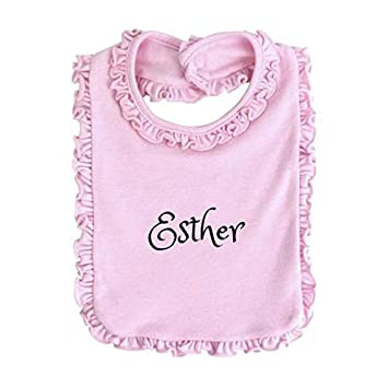 Personalised on Your Christening day shawl and bib set boy girl blue pink