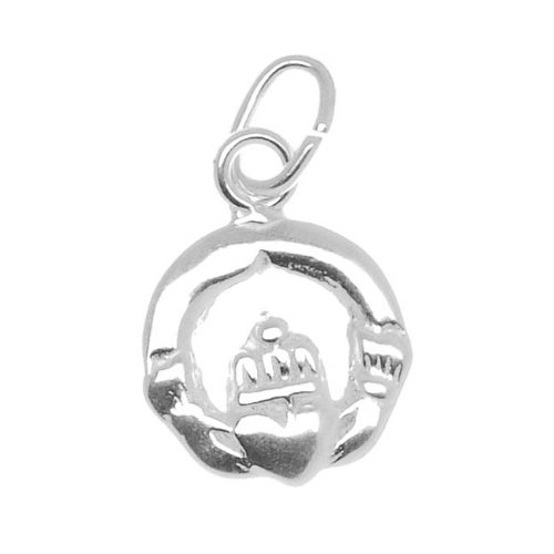 Beadaholique Sterling Silver Charm Irish Claddagh Love & Friendship Claddagh Circle Heart