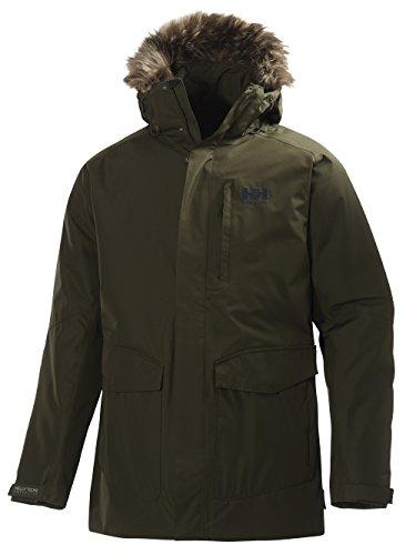 Helly Hansen Men's Dubliner Parka 100 Gram Primaloft Insulated Waterproof Windproof Breathable Rain Coat with Hood, 468 Olive Night, X-Large ()