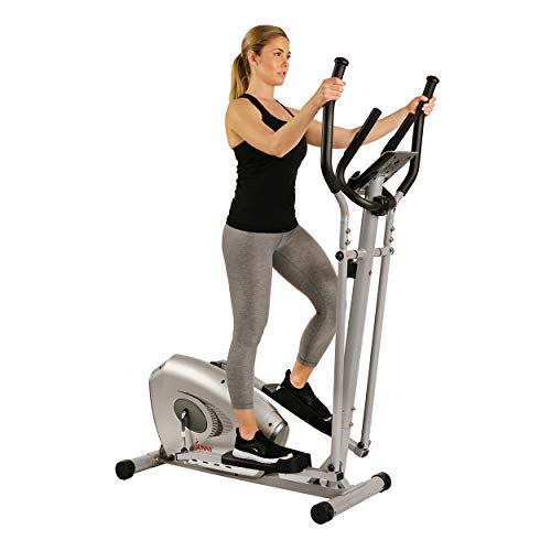 Sunny Health & Fitness SF-E3607 Magnetic Elliptical Bike Elliptical Machine w/ Tablet Holder, LCD Monitor and Heart Rate Monitoring