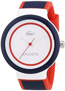 Lacoste 2020001 - Reloj de silicón unisex, esfera multicolor