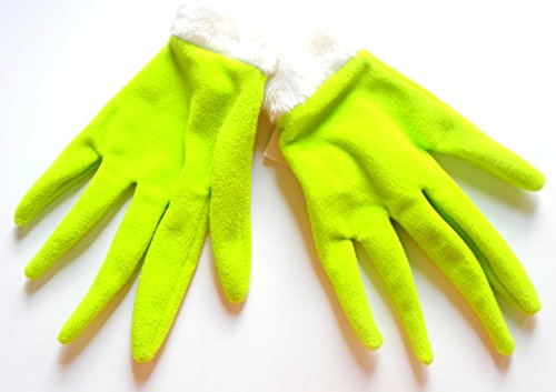 Universal Studios Theme Park Lime Green Grinch Christmas 2015 Gloves Hands Dr. Suess