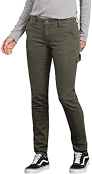Dickies Womens Slim Straight Stretch Duck Carpenter Pant Work Utility Pants