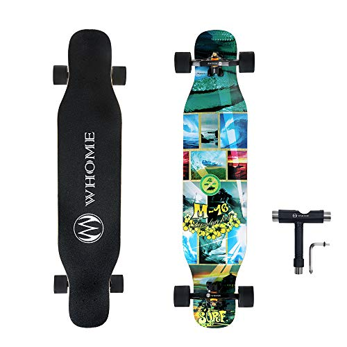 WHOME PRO Dancing Longboard Complete for Adults and Beginners - 42 Inch Dancing Boarding Skateboards for Dancing Cruising Carving Freestyle 8 Layers Maple Includes T-Tool ()