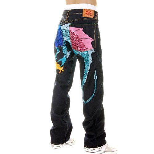 Yoropiko Royal/Sky/Pink Hungry Dragon denim jeans YORO5416