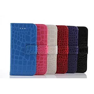 DD High-Grade PU Leather Stone Grain Bulletins Stent Design for iPhone 6 Plus (Assorted Colors) , Blue
