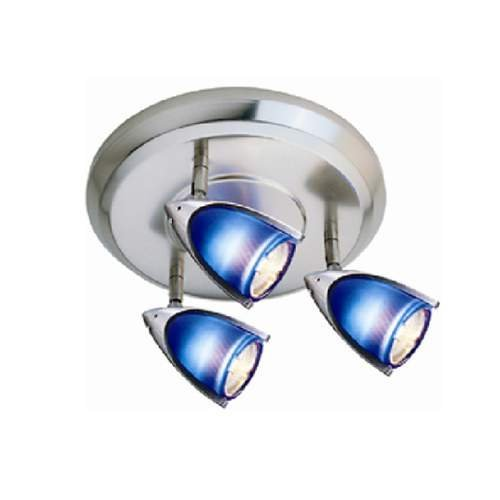Jesco Lighting HT3138B-ST 3-Light Line Voltage Die Cast Fixture with Glass and 50W Built-in Electronic Transformer, Satin Chrome by Jesco Lighting Group