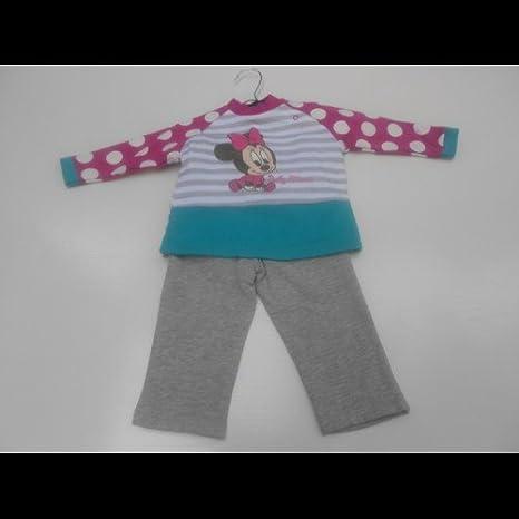 Disney - Chandal niña Mini grís, talla 6 meses: Amazon.es: Bebé