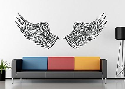 Ik1176 Wall Decal Sticker Angel Wings Bedroom Living Room Children