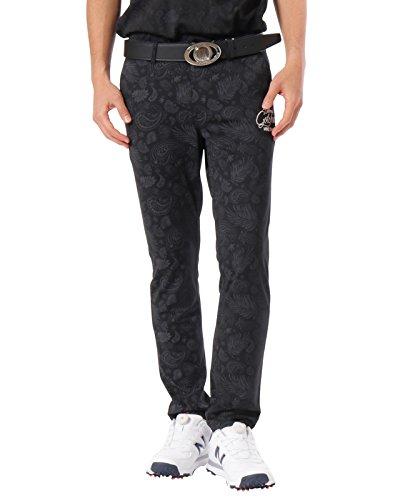 [ガッチャ ゴルフ] GOTCHA GOLF パンツ ハイテンション ペイズリー ロングパンツ 182GG1802 ブラック XXXL