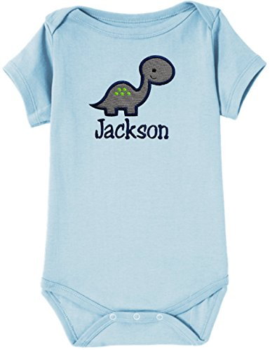 Personalized Embroidered DINOSAUR Onesie Bodysuit for Baby Boys - Your