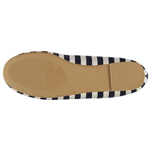 Miso Mujer Sassy Pantuflas Chancletas Zapatillas Zapatos Calzado Casual Azul Marino Rayas
