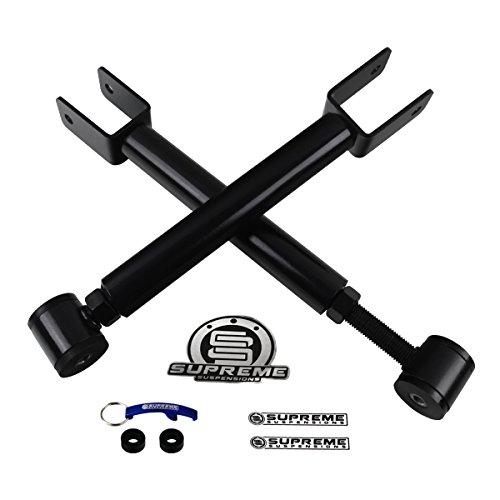 Supreme Suspensions - Grand Cherokee ZJ Wrangler TJ Front Adjustable Upper Control Arms High-Strength Carbon Steel Kit (Black) (Front Upper Adjustable Arms)