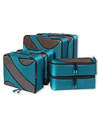 BAGAIL 6 Set cubos de embalaje, 3 diferentes tamaños Travel Equipaje organizadores de embalaje Teal
