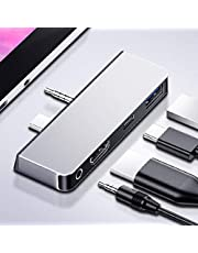 Type-C USB-C to HDMI & USB3.0 OTG & Audio 3.5mm & Power Adapter for Surface Go