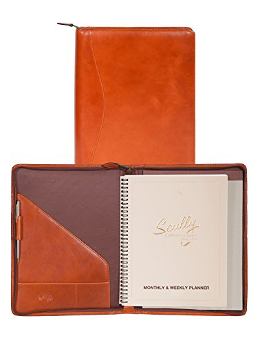 (Scully Italian Leather Zip Planner & Letter Pad (Sunset))
