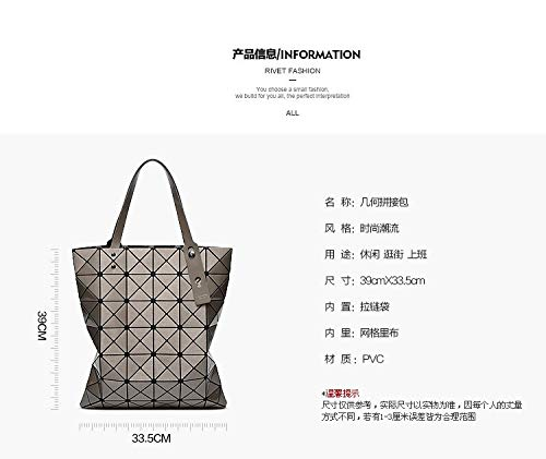 Lattice Totes Sequins Black Handbag Geometry Borsa Hologram Fold Borse Retro Laser Donna 4qnXZx6g6