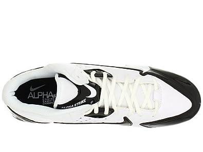 Men's Nike Alpha Strike 3/4 TD Football Cleat White/Black/White Size