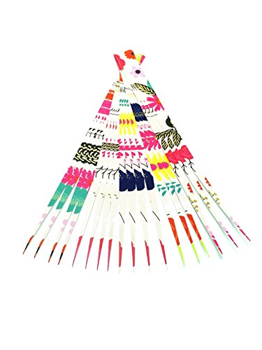 """Paper Bead Beading Strips for Paper Beads 1"""" Precut Paper Strips with Foil Laminate Make Beautiful Beads from Ground Zero Creations"""
