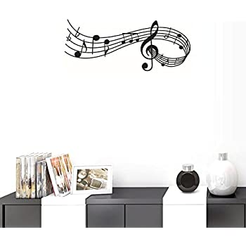 Amazon.com: narutosak Wall Stickers Removable Music Notes Notation ...