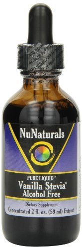 NuNaturals Nustevia Vanilla Alcohol Free Stevia Glass Bottle Liquid, 2-Ounce (10-Pack)